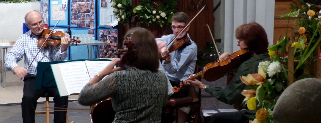 String Quartet Playing at St Lawrence Church in Bovingdon